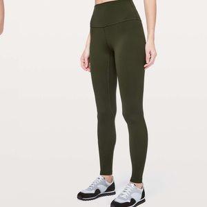 """EUC Lululemon Align Olive Green 25"""" Leggings Size 6"""
